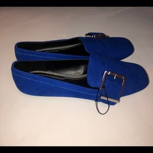 Zara blue flats